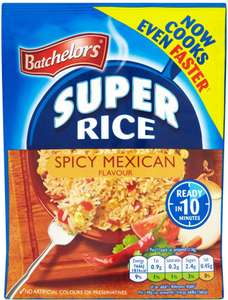 Batchelors Super Rice Spicy Mexican Flavour, 100 g (Pack of 10) £1.95 (Add-on Item) @ Amazon