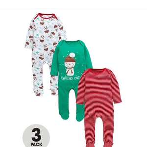 Ladybird Christmas sleepsuits 3 pack £4.19/£8.14 delivered @ Bargain Crazy