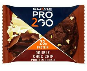 SCI-MX Nutrition 75 g Double Chocolate Chip Pro to Go Cookie @Heron Foods - 99p