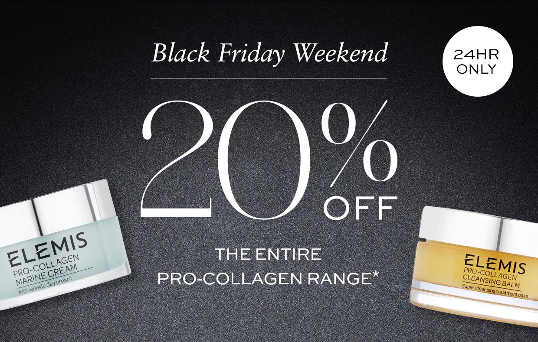 Black Friday Special | 20% Off Pro-Collagen Range*@ELEMIS