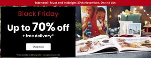 Up to 70% OFF @ PhotoBox + Additional 10% OFF with CYBER10 Code