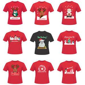 Unisex adult Christmas t-shirts in Red £5.48 delivered @ Fashion_Steal_Online Ebay