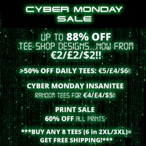 QWERTEE - Cyber Monday T-shirts starting at £2