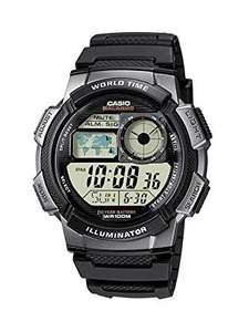 Casio Collection Men's Digital Watch with Resin Strap – AE-1000W AE-1000W-1BVEF, 10 Year Battery, 100M WR, World Time, Illuminator, £14.59 @ Amazon (Prime) or £18.54 (Non-Prime) - £14.99 At Argos Too