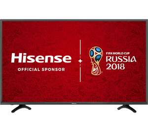"HISENSE 49"" 5500 Smart 4K UHD HDR TV £379 (£341.10 with cashback) Currys"