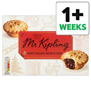 Mr Kipling Mince Pies 6 Pack/ Mr Kipling Iced Top Mince Pies 6 Pack £1.50 Buy One Get One Free @ Tesco