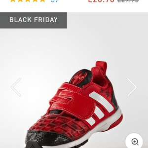 Adidas infant boys Marvel Spider-Man trainers £14.67 free delivery 100 day returns policy with code