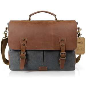 Lifewit 15.6 Inch Leather Satchel Messenger Laptop Shoulder Bag (Grey) £31.99 Sold by Lifewit and Fulfilled by Amazon.
