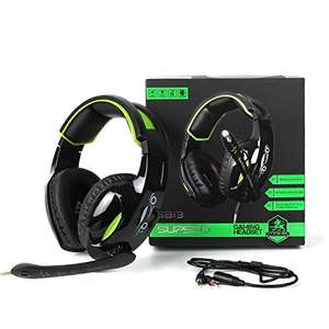 SUPSOO G813 3.5mm Stereo Gaming Headset *CYBER MONDAY DEAL, £9.99  (Prime) / £13.98 (non Prime)  Sold by E-Happy Store and Fulfilled by Amazon.