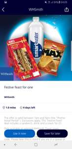 O2 priority feast for one meal deal £1 @ WHsmith Travel Stores - O2 priority
