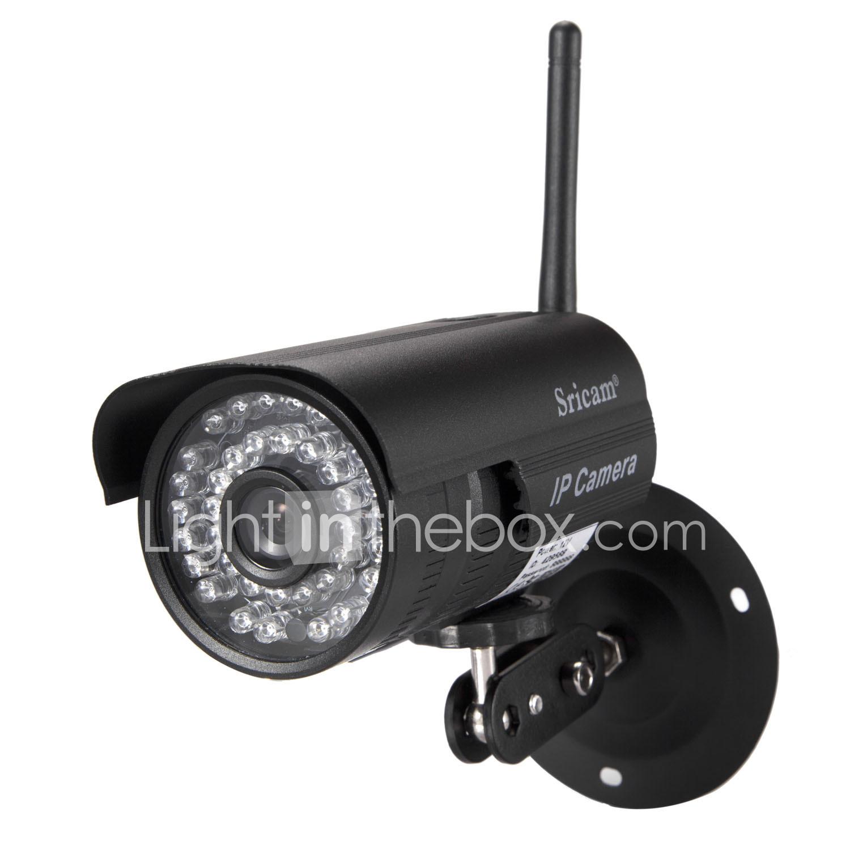 Sricam® 1.0MP IP Camera Waterproof Day Night Wireless 1/4 Inch Color CMOS Sensor £9.51 at  LightInTheBox