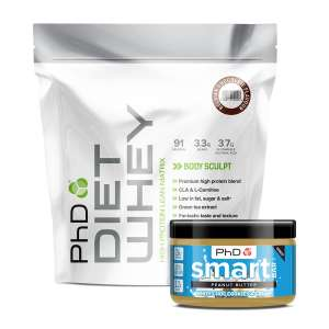 PHD Giving Free Nut Butter With Diet Whey - £21.49 Delivered