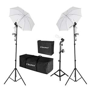 Studio Photography (Soft Box lighting kit & backdrop kit & carry bag) from £39.19 @ Amazon/sold by CraphyUK LTD