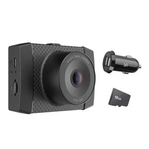 YI 2.7K Dash Cam with MEMS 3-Axis G-Sensor, Voice Control and LCD screen (Includes 16GB Card and Car Adapter) £64.99 with voucher Sold by YI Official Store UK and Fulfilled by Amazon