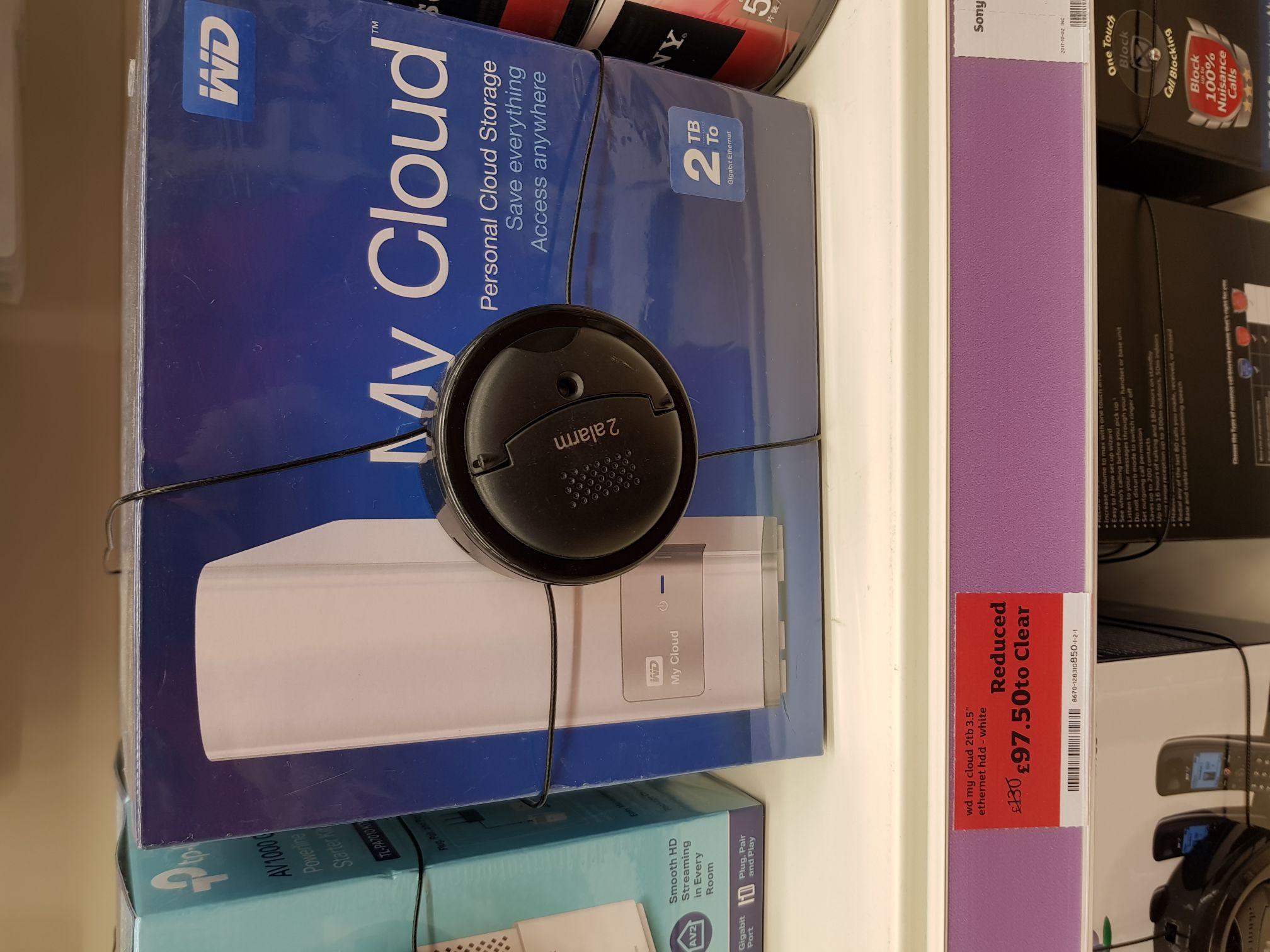 Wd Mycloud 2Tb hardrive £97.50 - Sainsburys instore