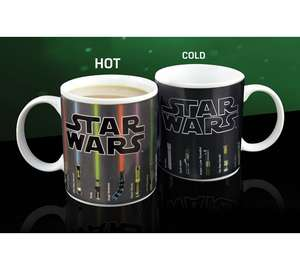 Star Wars Lightsaber Heat Changing Mug Reduced £4.99 Argos was £9.99