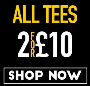 2x T-Shirts for £10 (£13.95 delivered) at Saltrock