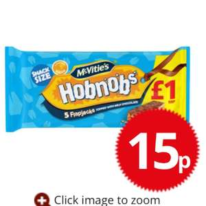 Hobnobs flapjack pack RRP £1 at Poundstretcher for 15p