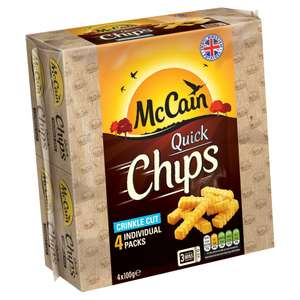 McCain Quick Chips Crinkle and Straight Cut 4 x 100g 2 packs for £2 @ Iceland