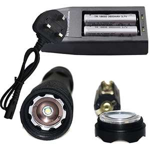 Amazon...Led Torch, Batteries and Charger - £9.98 Prime / £14.73 non Prime Sold by SHENZHEN JINGBOSHI ELECTRONIC COMMERCE CO., LTD and Fulfilled by Amazon