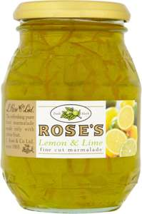 Rose's Lime Marmalade / Rose's Lemon & Lime Fine Cut Marmalade / Rose's Orange Marmalade  (454g) was £1.88 now £1.00 @ Morrisons