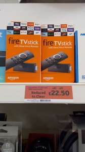 Amazon Firestick with Alexa - £22.50 instore @ Sainsbury's