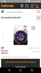 Descendants Bike Bell £1 was £4