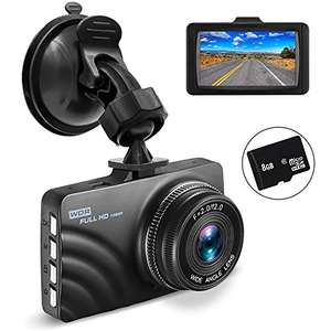 OldShark Dash Cam with 8GB SD Card for £23.99 Sold by OldShark Direct and Fulfilled by Amazon