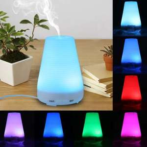Finether Colour Changing LED Light Ultrasonic Humidifier Air Diffuser Purifier / Atomizer 100ml £4.18 Del w/code @ GearBest