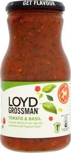 Loyd Grossman Tomato and Basil Pasta Sauce (660g) was £2.79 now £1.39 @ Tesco
