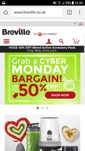 Cyber monday deals on Breville up to 50% off
