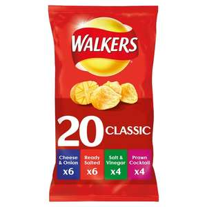 20 pack of walkers wotsits or quavers @ Morrisons for £2