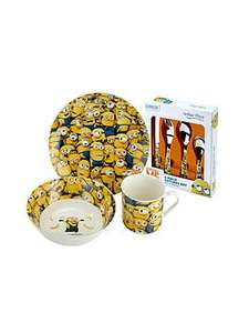 Arthur Price China Despicable Me Breakfast and Cutlery Tableware Bundle now £9.99 C+C via Collect+ @ Very (3 Piece Breakfast set on its own is £24.95 at JL)