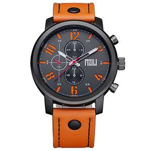 Men's Orange Band Analogue Sport Quartz Wrist Watch - £20 - Sold by MAKEALIFE-EU and Fulfilled by Amazon