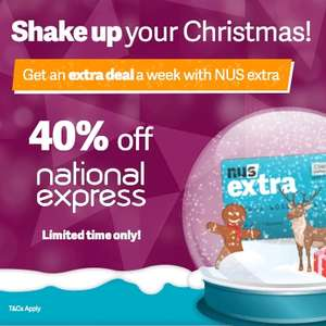 National express 40% off nus students