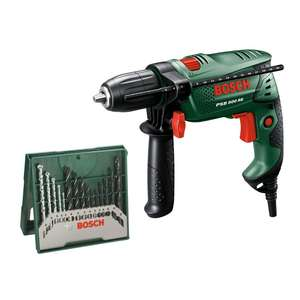 Bosch 500W Hammer Drill Plus 15 Piece Accessory Kit £29.99 @ Homebase
