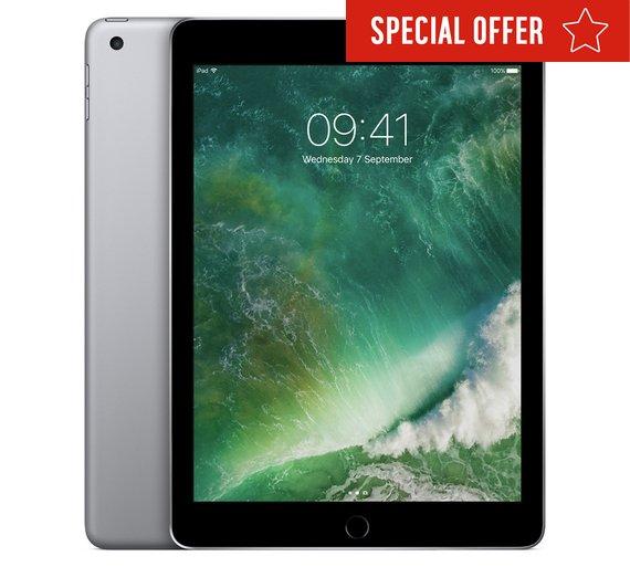 "iPad 9.7"" 128GB Wifi Space Grey £429 @ Argos (possible £34.32 cashback, making it £394.68)"
