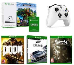 Xbox One S with Minecraft + DOOM + Forza Motorsport 7 + Fallout 4 + Extra Controller + 3 Months Xbox Live £220 @ Currys
