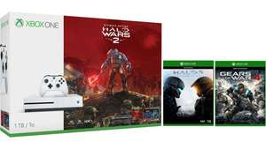 Xbox One S 1TB with Halo Wars 2 + Halo 5 + Gears of War 4 - Only £229.99 @ Microsoft Store