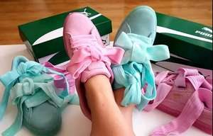 Puma Suede Heart Aruba Blue or Pink £20 using code + free c&c @ Office Shoes
