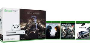 Xbox One S 1TB + Shadow of War + Forza 7 + Halo 5 + Gears of War - Only £239.99