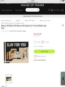 Barry M Slay For You Makeup £8 at House of Fraser Online (Worth £25)