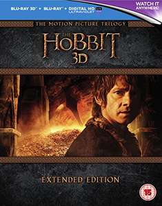 The hobbit extended blu ray trilogy - £30 @ Amazon