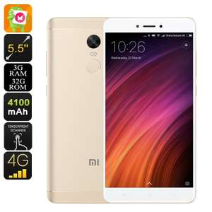 Xiaomi Redmi Note 4X Gold - £94.19 @ Lightinthebox