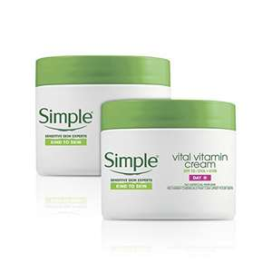 Simple Kind To Skin Vital Vitamin Day Cream SPF 15 Pack of 2 x 50ml  £4.48 (Prime), £8.43 (Non-Prime) @ Amazon