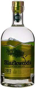 Blackwoods 2012 Vintage Gin (70cl) cheapest ever @ £16.49  (Prime) / £21.24 (non Prime) at Amazon