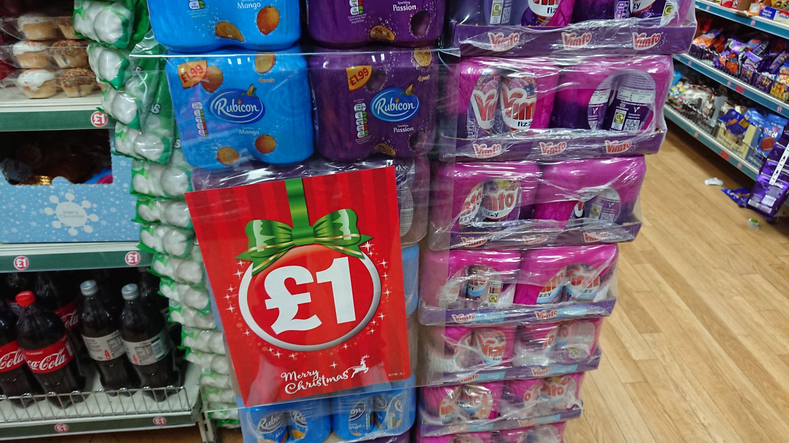 Rubicon x 4 330ML cans £1 at Poundland