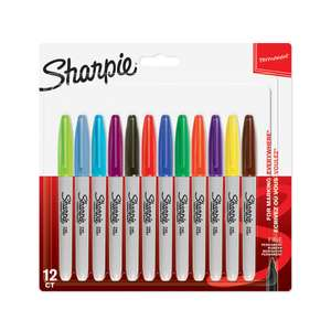 12 Sharpie fine assorted colours £4.50 at Wilko online or in store