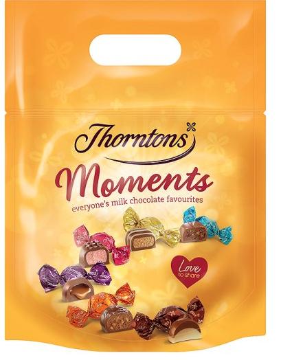 Thorntons Moments 448G  £2.50 , £0.56/100g @ Tesco.