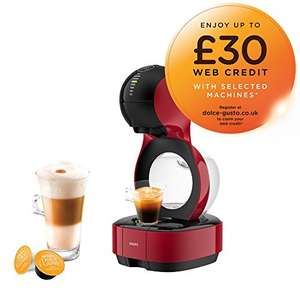 Nescafé Dolce Gusto Krups Lumio Automatic Coffee Machine, Red £59.99 at Amazon with up to £30 credit